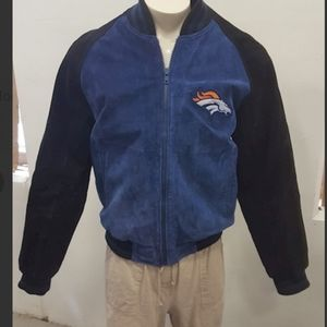 NFL Denver Broncos Leather Jacket